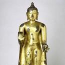 Abhaya, Standing Buddha, Bihar, 7th century (Reassurance). Museum no. IS.3-2004