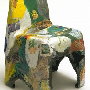 W.12-1996. Chair made from recycled plastic packaging. Designed by Barr