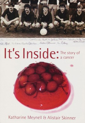 Katharine Meynell and Eleanor Rose (designer), cover to It's Inside (authors Katharine Meynell and Alistair Skinner), London, Marion Boyars, 2005