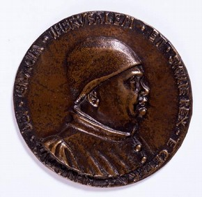 Reproduction of a medal, 1461. Museum no. REPRO.1888-151