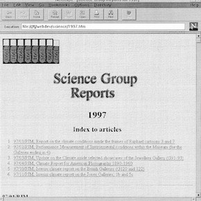 Science Group Reports screenshot
