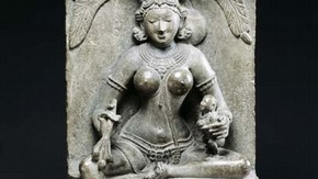 Goddess Ambika, sculpture, 12th century. Museum no. IS.61-1963