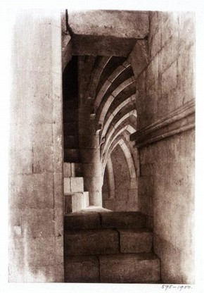 Frederick H. Evans, 'Lincoln Cathedral: Stairway in South-West Turret', photogravure, 1895. Museum no. PH.595-1900