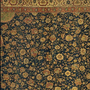 Detail showing the filler patterns in the Ardabil carpet