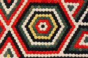 Detail of Military quilt, William Brayley, about 1880s. Museum no. T.58-2007