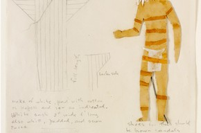 Costume design for 'King Lear ', Isamu Noguchi, 1955. Museum no. Circ.68/73 - 1960