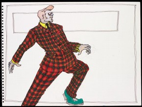 Costume design for 'Highland Fling,' Lez Brotherston,1994, Museum no. S.326-2002. © Lez Brotherston