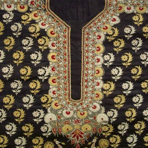 Embroidered satin blouse. Museum no 800-1852