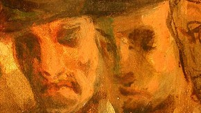 Detail of 'The Shipwreck of Don Juan' showing the flesh paint of the shipwrecked survivors. Click to enlarge
