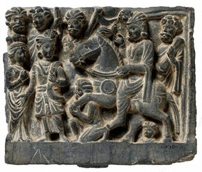 The Great Departure of the Buddha. Pakistan, 100-200 AD. Museum no. IM 30-1935