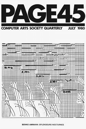 Cover of 'Page' issue 45, 1980. Courtesy of the Computer Arts Society, London