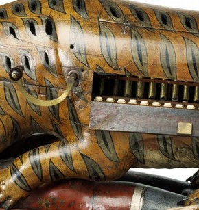 'Tipu's Tiger' (detail showing organ), 1790. Museum no. 2545(IS)