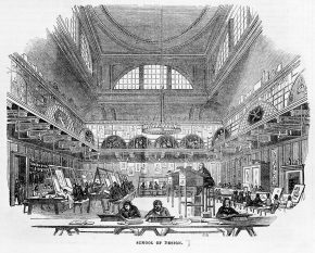 School of Design, Somerset House, Illustrated London News, 1843. Museum no. 172935 NAL © Victoria and Albert Museum, London