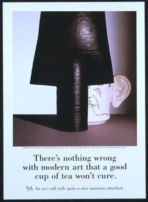 Poster, Saatchi & Saatchi Garland Compton Ltd. late 1980s. Museum no. E.513-1988. © Victoria and Albert Museum, London.