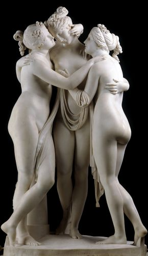 The Three Graces by Antonio Canova Rome, 1814-1817, carved marble. Museum no. A.4-1994, © Victoria and Albert Museum, London