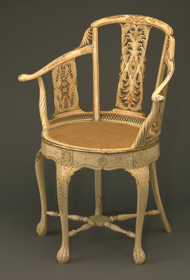 Perfect Ivory Chair, India, About 1785. Museum No. 1075 1882, ©