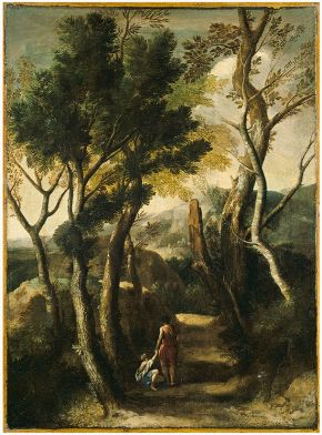 Gaspard Dughet (1615-1675), Italian landscape, around 1633-1635, oil on canvas. Museum no. CAI.107, © Victoria and Albert Museum, London
