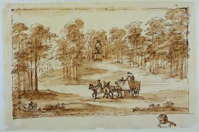 Landscape at Chiswick, William Kent, about 1733-38, pencil, pen and ink, wash. © Devonshire Collection, Chatsworth. Reproduced by permission of the Chatsworth Settlement Trustees