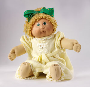 Cabbage Patch doll, Appalachian Workshops Inc, Spain, 1985 copyright Victoria and Albert Museum