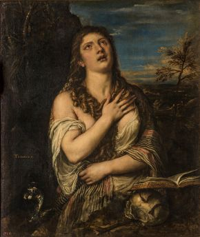 Repentant Mary Magdalene, painting, Titian, Italy, 1560s, oil on canvas. Museum no. GE-117. © Vladimir Terebenin/The State Hermitage Museum, St Petersburg