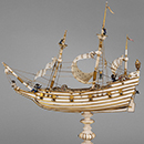 Model ship, 1620-50, Germany (possibly Dresden), ivory. Museum no. M.343-1956, © Victoria and Albert Museum, London
