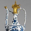 Ewer, about 1522-66, China (Jingdezhen) with later South German mounts, porcelain painted in underglaze blue. Museum no.  174-1879, © Victoria and Albert Museum, London