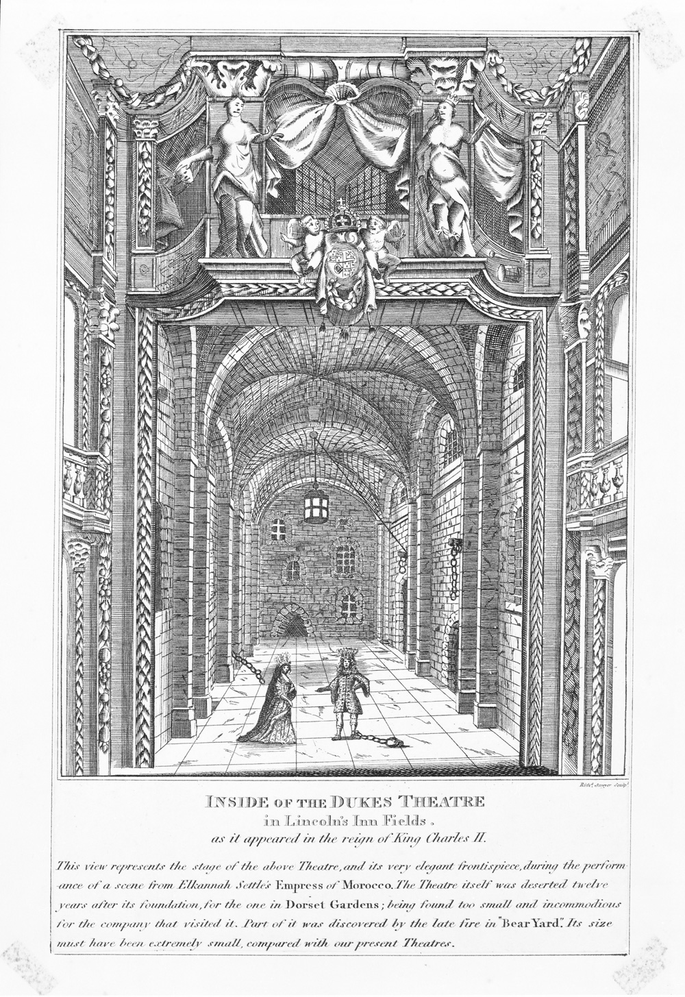 17th century theatre victoria and albert museum for Garden design 18th century