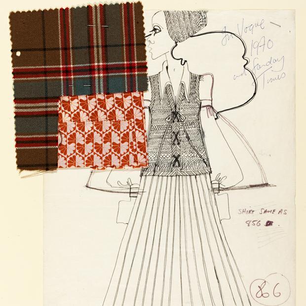 Bill Gibb Fashion Illustration