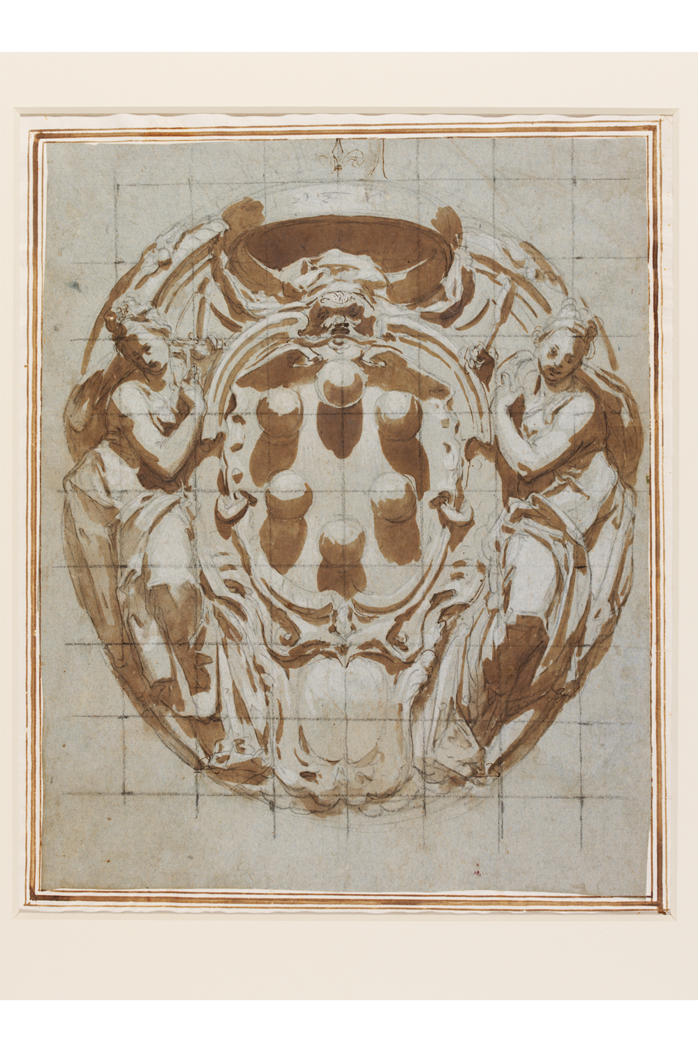 Design for a cartouche by Il Poccetti, 1607-12