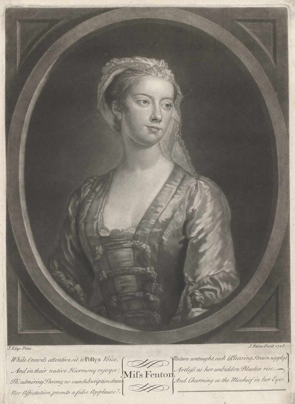 th century theatre victoria and albert museum lavinia fenton as polly peachum in the beggar s opera mezzotint print by john faber the younger after john ellys london england 1728