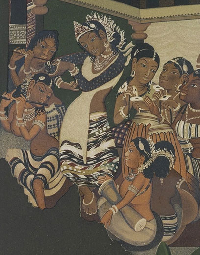 Conserving The Copies Of The Ajanta Cave Paintings At The