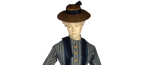 Interactive: Woman's Boating Outfit, by Unknown Maker, about 1872