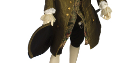 Interactive: Man's Formal Silk Daywear, by Unknown Maker, about 1745