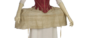 Interactive: Side Hoop Underskirt and Linen Shift, 18th Century