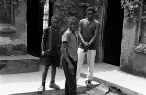 &#39;Nousta, Rister and Noupa Mkansi at home in Dan, Tzaneen, their parents Richard and Onica are both dead&#39; (from the series Child Headed Households), Santu Mofokeng, 2007.  Santu Mofokeng