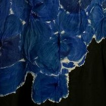 Shibori technique used on kimono-inspired dresses, Yohji Yamamoto, Autumn/Winter 1994-5.  Courtesy of Alessandro Ciampi