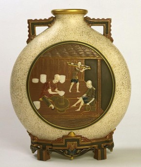Vase, James Hadley, 1872. Museum no. 845A-1872
