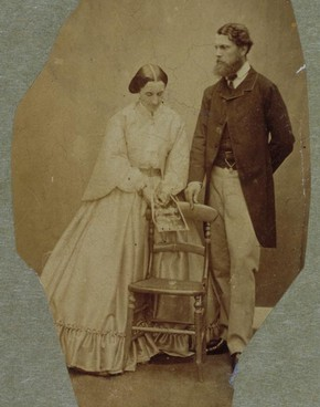 Lady Clementina Hawarden, possibly self portrait, with Donald Cameron of Lochiel, about 1861-62. Museum no. PH.457:423-1968, © Victoria and Albert Museum, London