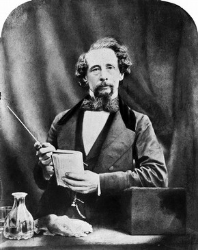 Charles Dickens, photograph by Herbert Watkins, 19th century. Museum no. PH.87-1982