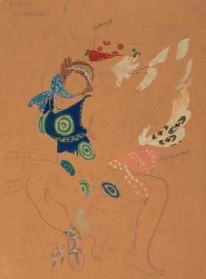 Costume design for a Bacchante in 'Narcisse,' Léon Bakst, 1912. Museum no. S.205-1978