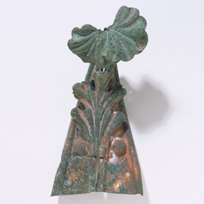 Fragment of the Hereford Screen: wrought iron finial with flower, 1862. Museum no. M.251-1984