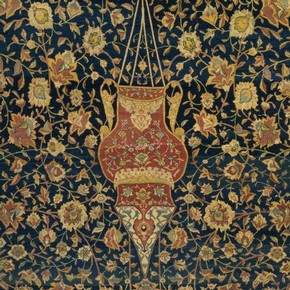 Mosque lamp, detail, Ardabil carpet