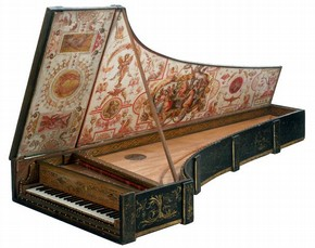 The Baffo Harpsichord, by Giovanni Antonio Baffo (active 1570–95), Venice, Italy, 1574. Museum no. 6007-1859