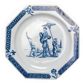 Plate, Bow porcelain factory, London, about 1760. Museum no. C.110-1942