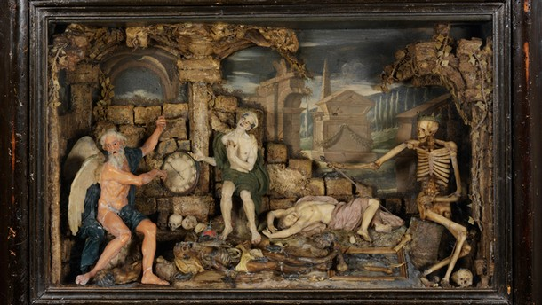 Time and Death, wax relief, probably by Caterina de Julianis, Italy, probably before 1727. Museum no. A.3-1966