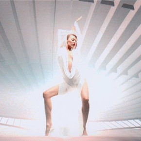 Kylie Minogue in the 'Can't Get You Out Of My Head' video, 2001. Photograph courtesy Parlaphone Records and EMI Records Ltd.