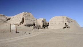 Buildings at Kharakhoto, Rachel Roberts, 2008. Photo 1187/1(22), © International Dunhuang Project