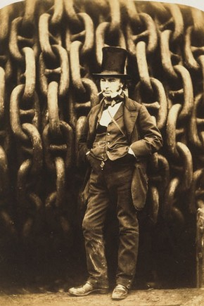 Robert Howlett, 'Isambard Kingdom Brunel and the Launching Chains of the Great Eastern', 1857. Museum no. 246-1979