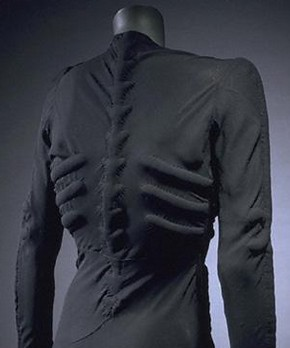 'The Skeleton Dress' by Elsa Schiaparelli, 1938, Museum no. T.394-1974