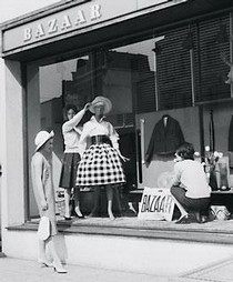 Window dressing at Bazzar, 138a King's Road, 1959.  Getty Images